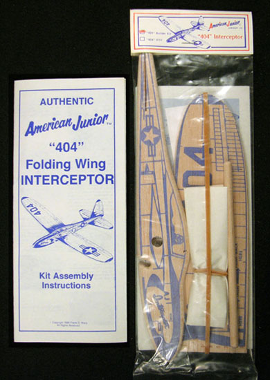 404 Interceptor Folding Wing Glider Kit Assembly from 1989
