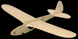 Plain Jane Folding Wing Balsa Glider