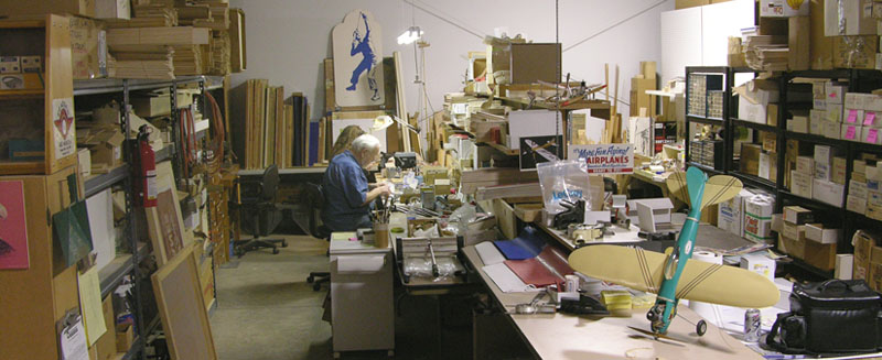 Frank Macy in his shop for American Junior in 2007