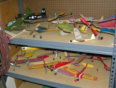 Frank Macy's American Junior balsa model collectiom in 2009