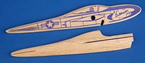 404 Interceptor and Firebaby fuselage comparison showing Jim Walker's integration of established model airplanes with new releases