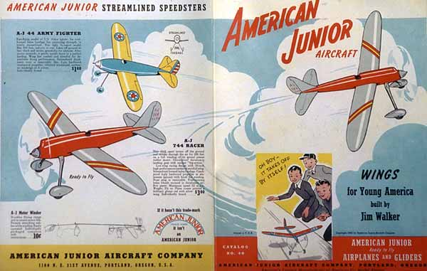 A-J Model Plane Catalog from 1940 by Jim Walker