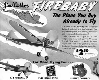 Jim Walker Firebaby advertisement from American Junior Aircraft and it's ready to fly