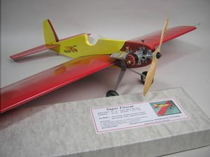 Jim Walker's Super Firecat an American Junior U-Control stunt ship