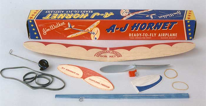 Jim Walker's American Junior Hornet - a rubber powered balsa plane that is ready to fly out of the box
