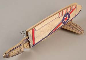 The Jim Walker Folding wing Interceptor American Junior Aircraft company - balsa model glider