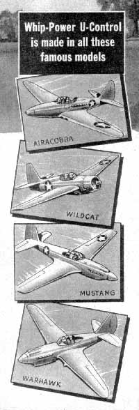 Whip-Power model planes from American Junior