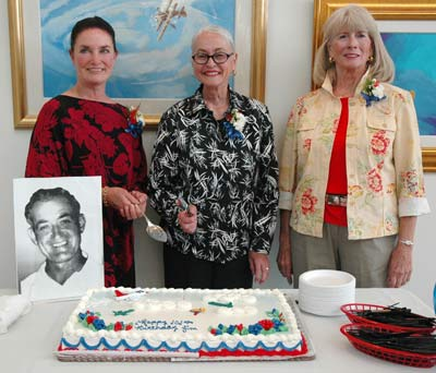 Jim Walker's daughters at the cake cutting ceremony