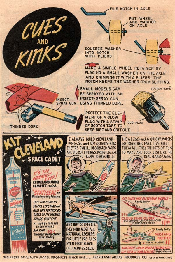 Flying Models comic book from 1954 page 10