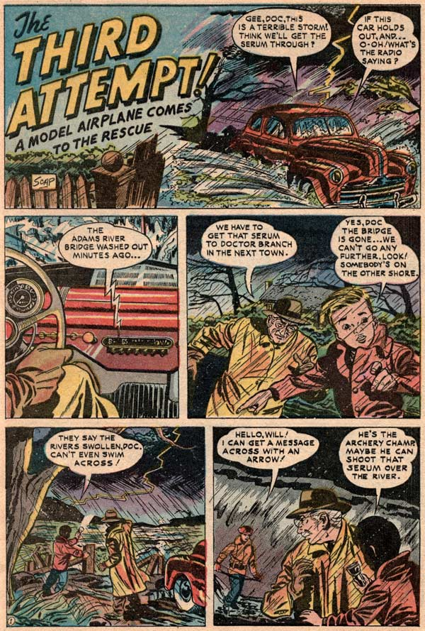 Flying Models comic from 1954 - page 2