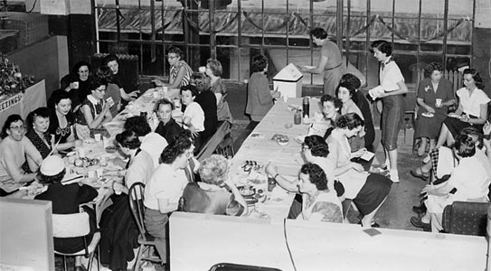 Women workers on break at American Junior plant in Oregon - 1950's