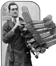 Jim Walker during 1929 holding his early American Junior Models