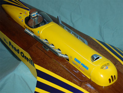 Miss Unlimited model boat built by Jeff Miller