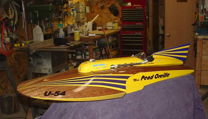 Jeff Miller built this model boat - A Miss Unlimited by American Junior Aircraft Company in Portland, Oregon