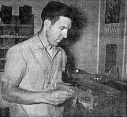 Bob Smutrhwaite with the FireBee model he manufactured for American Junior