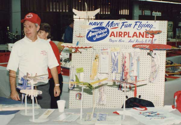 James at Frank Macy's American Junior booth in late 1980's